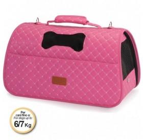 Camon® Pet Bag Rombo /полутвърда ватирана луксозна транспортна чанта/-42x25x25см