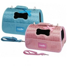 Camon® Pet Bag with Bow /полутвърда луксозна транспортна чанта/-50x27x26см