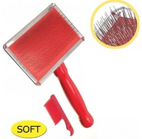 Camon Chrome-Plated Slicker Brush with Small Comb S /четка за фино разресване/