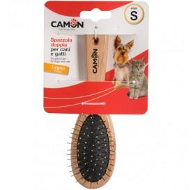 Camon Double Wooden Brush Small /Двустранна Четка/-17см