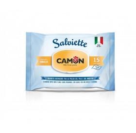 Camon Salviette Cleaning Wipes With Vanilla /мокри кърпички за тяло с аромат на ванилия/-15бр