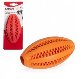 Camon® Rubber Toy Dental Fun Rugby Ball /каучукова играчка за куче/-11см
