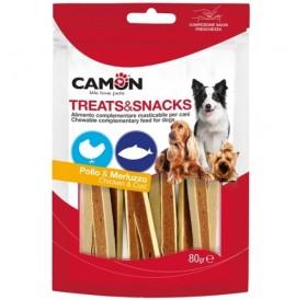 Camon Treats Snack Chicken&Fish /лакомства за куче ленти от пилешко месо и риба/-80гр