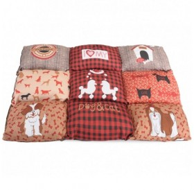 Camon Dog Red Pillow Patchwork /текстилен дюшек/-55x80см
