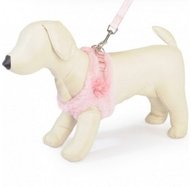 Camon Breathable Winter Dog Lead Set Harness with Leash /зимен комплект нагръдник и повод за куче/