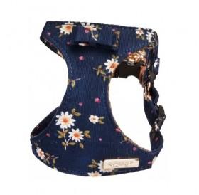 Camon Dog Harness and Leash Set Flowers /комплект текстилен нагръдник с повод за куче/