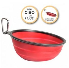Camon® Collapsible Slanted Travel Bowl /сгъваема силиконова наклонена купа за път 470мл/-Ø16,5см