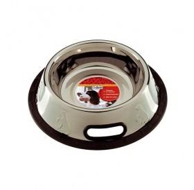 Camon Stainless Steel Bowl 210ml /купа от неръждаема стомана с гумирана основа 0,21л/-Ø11см