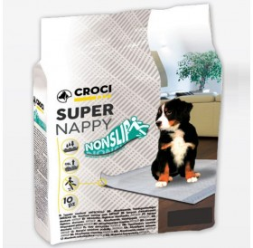 Croci Super Nappy NonSlip 60x60 /Абсорбиращи Подложки (Памперси) С Противоплъзгащо Дъно 60х60см/-10бр