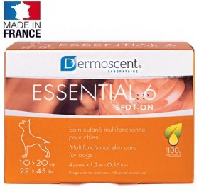 Dermoscent® Essential 6® spot-on for Medium Dogs /пипети за мулти-функционална грижа за кожата за кучета от средни породи/-4бр