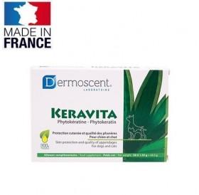 Dermoscent® Keravita® /вкусни 100% натурални таблетки за кучета и котки за подхранване на козината и ноктите/-30бр