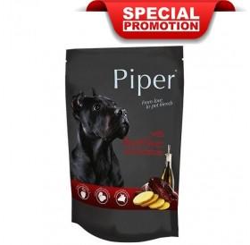 Piper Animals Dog Adult With Beef Liver And Potatoes /Храна За Израснали Кучета С Телешки Черен Дроб И Картофи/-10x150гр