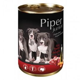 Piper Dog Junior with Beef Hearts and Carrots /храна за подрастващи кученца с говежди сърца и моркови/-400гр