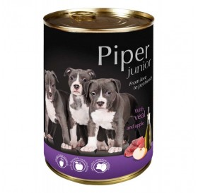 Piper Dog Junior with Veal and Apple /храна за подрастващи кученца с телешко месо и ябълки/-400гр