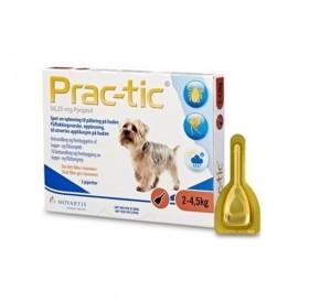 Prac-Tic Spot-On XSmall /Обезпаразитяващи Пипети За Външни Паразити За Кучета От 2 До 4,5кг/-3бр