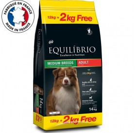 Equilíbrio Medium Breeds Adult /храна за израснали кучета средни породи/-12+2кг ГРАТИС