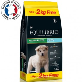 Equilíbrio Medium Breeds Puppy /Храна За Подрастващи Кученца Средни Породи/-12+2кг ГРАТИС