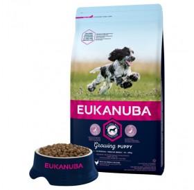 Eukanuba Growing Puppy Medium Breed /храна за подрастващи кученца от средни породи/-3кг