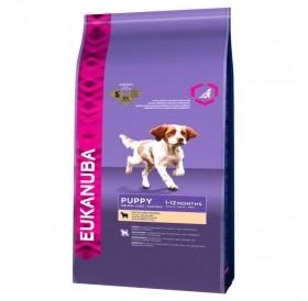 Eukanuba Puppy Small/Medium Breed with Lamb&Rice /храна за подрастващи кученца дребни и средни породи с агнешко месо и ориз/-2,5кг