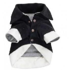 FarmCompany Fleece coat Comfort Black/White /кучешка дрешка/-25см