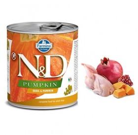 N&D Grain Free Pumpkin Adult Quail&Pumpkin Wet Food /пълноценна храна за кучета с пъдпъдък и тиква/-285гр