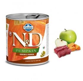 N&D Grain Free Pumpkin Adult Venison&Pumpkin Wet Food /пълноценна храна за кучета с еленово месо и тиква/-285гр