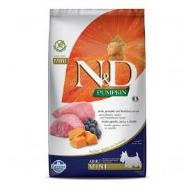 N&D Pumpkin Mini Adult Lamb&Blueberry /пълноценна храна за израснали кучета дребни породи с агнешко тиква и боровинки/-800гр