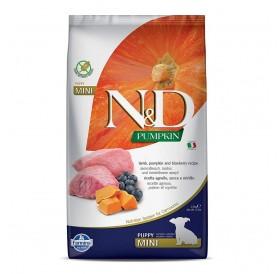 N&D Dog Pumpkin Mini Puppy Lamb&Blueberry /пълноценна храна за подрастващи кученца и бременни или кърмещи кучета дребни породи с агнешко тиква и боровинки/-800гр