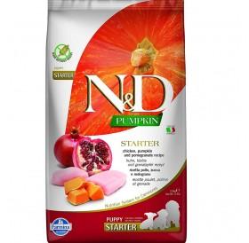 N&D Grain Free Pumpkin Dog Chicken&Pomegranate Starter All Breeds /пълноценна стартерна храна за кучета от всички породи с тиква пиле и нар/-0,8кг