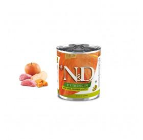 N&D Grain Free Pumpkin Adult Boar&Apple Wet Food /пълноценна храна за кучета с глиган тиква и ябълка/-285гр