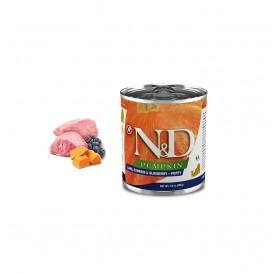 N&D Grain Free Pumpkin Puppy Lamb&Blueberry Wet Food /пълноценна храна за подрастващи кученца с агнешко тиква и боровинки/-285гр