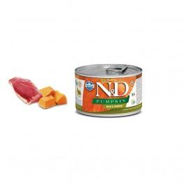 N&D Pumpkin Adult Wet Dog Food Duck (Small & Mini Breeds) /пълноценна храна за кучета с патешко и тиква/-140гр