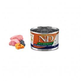N&D Pumpkin Starter Wet Dog Food Lamb&Blueberry (Small & Mini Breeds) /пълноценна храна за подрастващи кученца с агнешко тиква и боровинки/-140гр