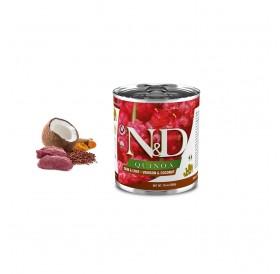N&D Quinoa Skin&Coat Venison Adult Wet Dog Foods /пълноценна храна за израснали кучета от всички породи с еленско месо киноа кокос и куркума/-285гр