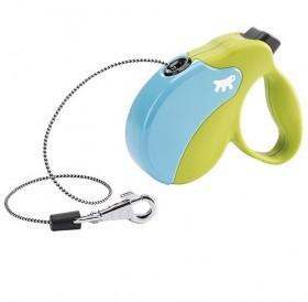 Ferplast Amigo Colours Cord Mini Green/Light Blue /автоматичен повод за кучета до 12кг. въже/-3м