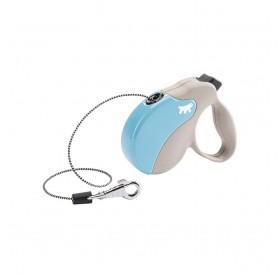 Ferplast Amigo Cord Mini Light Blue/Gray /автоматичен повод за кучета до 12кг. въже/-3м