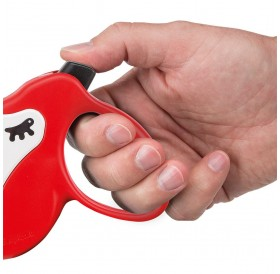 Ferplast Amigo Cord Mini Red/White /автоматичен повод за кучета до 12кг. въже/-3м