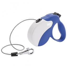 Ferplast Amigo Cord Mini Blue/White /автоматичен повод за кучета до 12кг. въже/-3м