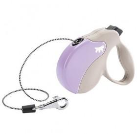 Ferplast Amigo Cord Mini Purple/Beige /автоматичен повод за кучета до 12кг. въже/-3м