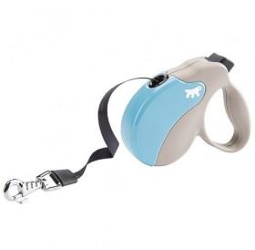 Ferplast Amigo Tape Mini Light Blue/Gray /автоматичен повод за кучета до 12кг. лента/-3м