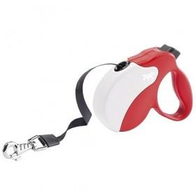 Ferplast Amigo Tape Mini Red/White /автоматичен повод за кучета до 12кг. лента/-3м