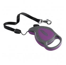 Ferplast Flippy Delluxe Mini Purple /автоматичен повод за кучета/котки до 8кг. въже/-3м