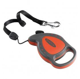 Ferplast Flippy Delluxe Mini Red /автоматичен повод за кучета/котки до 8кг. въже/-3м