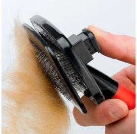 Ferplast GRO 5955 Dog&Cat Slicker Brush /четка за фино разресване със система за почистване/