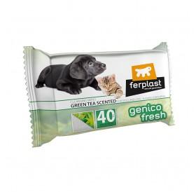 Ferplast Genico Fresh Green Tea /ароматизирани почистващи кърпички за кучета и котки 30x20см/-40бр