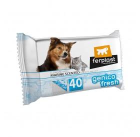 Ferplast Genico Fresh Marine /ароматизирани почистващи кърпички за кучета и котки 30x20см/-40бр