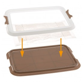Ferplast Hygienic Pad Tray Small /поставка за абсорбиращи подложки (памперси) 60х40см/-49х36х3см