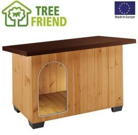 Ferplast Baita 100 /дървена къща за куче/-122x79x78см