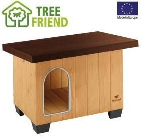 Ferplast Baita 60 /дървена къща за куче/-73,5x59x52,5см
