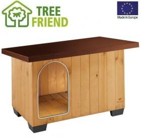 Ferplast Baita 80 /дървена къща за куче/-102x70x65,5см